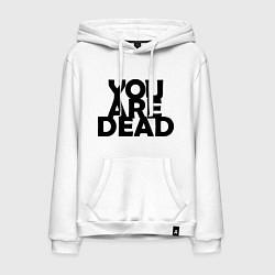 Толстовка-худи хлопковая мужская DayZ: You are Dead цвета белый — фото 1
