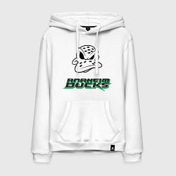 Толстовка-худи хлопковая мужская HC Anaheim Ducks Art цвета белый — фото 1