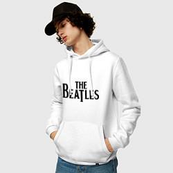 Толстовка-худи хлопковая мужская The Beatles цвета белый — фото 2