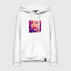 Толстовка-худи хлопковая мужская Rihanna Loud цвета белый — фото 1