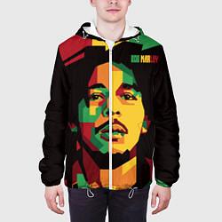 Куртка с капюшоном мужская Боб Марли цвета 3D-белый — фото 2