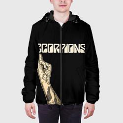 Куртка с капюшоном мужская Scorpions Rock цвета 3D-черный — фото 2