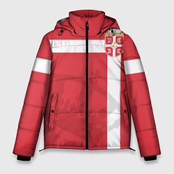 Куртка зимняя мужская Сборная Сербии цвета 3D-черный — фото 1