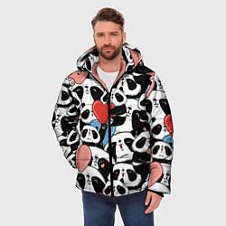 Куртка зимняя мужская Милые панды цвета 3D-черный — фото 2