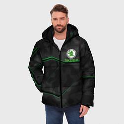 Куртка зимняя мужская SKODA цвета 3D-черный — фото 2