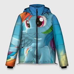 Куртка зимняя мужская My littlle pony цвета 3D-черный — фото 1