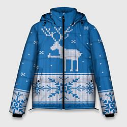 Куртка зимняя мужская Олень - класс цвета 3D-черный — фото 1
