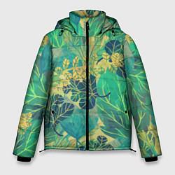 Мужская зимняя куртка Узор из листьев
