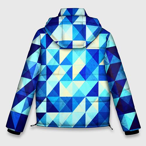 Мужская зимняя куртка Синяя геометрия / 3D-Черный – фото 2