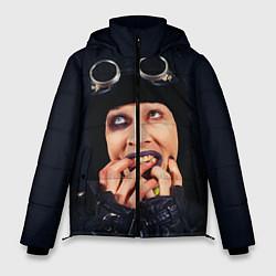 Куртка зимняя мужская Mаrilyn Manson: Biker цвета 3D-черный — фото 1
