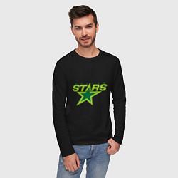 Лонгслив хлопковый мужской Dallas Stars цвета черный — фото 2