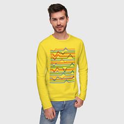 Лонгслив хлопковый мужской Эквалайзер цвета желтый — фото 2