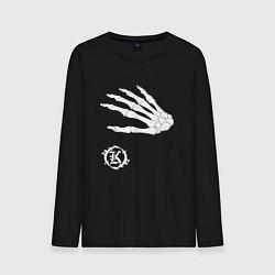 Лонгслив хлопковый мужской Кукрыниксы: Кости цвета черный — фото 1