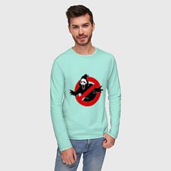Лонгслив хлопковый мужской Крик: запрещено цвета мятный — фото 2