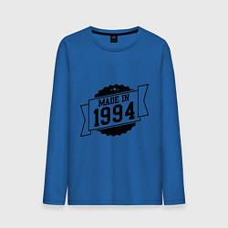 Лонгслив хлопковый мужской Made in 1994 цвета синий — фото 1