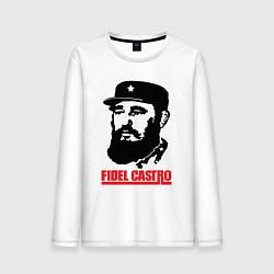 Лонгслив хлопковый мужской Fidel Castro цвета белый — фото 1