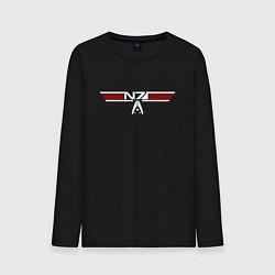 Лонгслив хлопковый мужской Alt N7 Wings цвета черный — фото 1