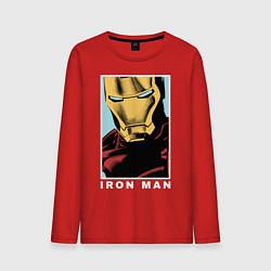 Лонгслив хлопковый мужской Iron Man цвета красный — фото 1