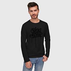 Лонгслив хлопковый мужской Серёжа местный цвета черный — фото 2