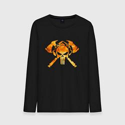 Лонгслив хлопковый мужской Пожарный Z цвета черный — фото 1