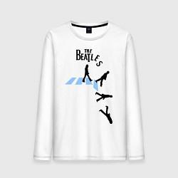 Лонгслив хлопковый мужской The Beatles: break down цвета белый — фото 1