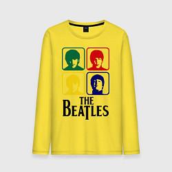 Лонгслив хлопковый мужской The Beatles: Colors цвета желтый — фото 1