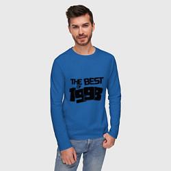 Лонгслив хлопковый мужской The best of 1998 цвета синий — фото 2