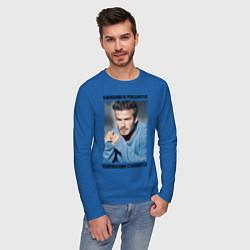 Лонгслив хлопковый мужской Дэвид Бекхэм: Чемпионами становятся цвета синий — фото 2