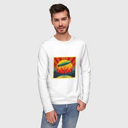 Лонгслив хлопковый мужской Led Zeppelin цвета белый — фото 2