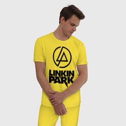Пижама хлопковая мужская Linkin Park цвета желтый — фото 2