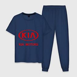 Пижама хлопковая мужская KIA цвета тёмно-синий — фото 1
