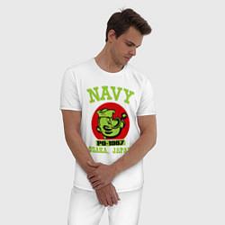 Пижама хлопковая мужская Navy: Po-1967 цвета белый — фото 2