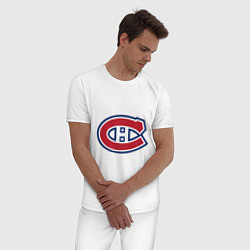 Пижама хлопковая мужская Montreal Canadiens цвета белый — фото 2