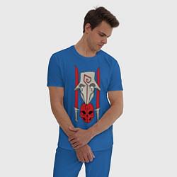 Пижама хлопковая мужская Juggernaut Pack цвета синий — фото 2