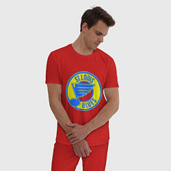 Пижама хлопковая мужская St.luis blues цвета красный — фото 2