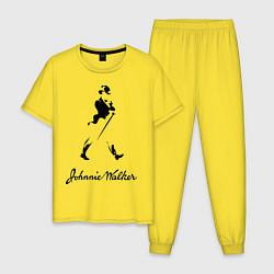 Пижама хлопковая мужская Johnnie Walker цвета желтый — фото 1