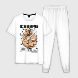 Пижама хлопковая мужская Bull   Iceberg цвета белый — фото 1