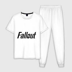 Пижама хлопковая мужская Fallout цвета белый — фото 1