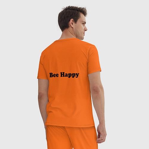 Мужская пижама Bob Marley: Don't worry / Оранжевый – фото 4
