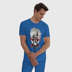 Пижама хлопковая мужская Канеки цвета синий — фото 2