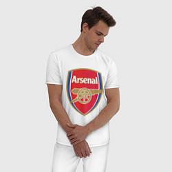 Пижама хлопковая мужская Arsenal FC цвета белый — фото 2