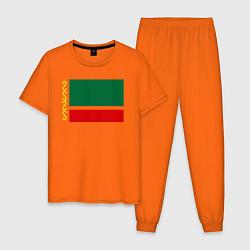 Пижама хлопковая мужская Чечня: флаг цвета оранжевый — фото 1