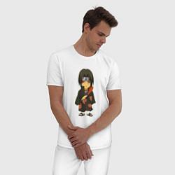 Пижама хлопковая мужская Итачи Учиха цвета белый — фото 2