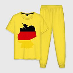 Пижама хлопковая мужская Германия (Germany) цвета желтый — фото 1