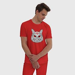 Пижама хлопковая мужская Owl: Twin Peaks цвета красный — фото 2
