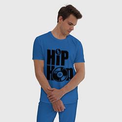 Пижама хлопковая мужская Hip-Hop цвета синий — фото 2