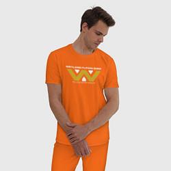 Пижама хлопковая мужская Weyland-Yutani цвета оранжевый — фото 2