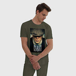 Пижама хлопковая мужская Peaky Blinders цвета меланж-хаки — фото 2