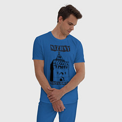 Пижама хлопковая мужская Нижний Новгород цвета синий — фото 2