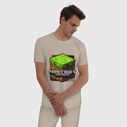 Пижама хлопковая мужская Minecraft: Pocket Edition цвета миндальный — фото 2